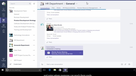 Thumbnail for entry Office 365 - Overview of Microsoft Teams