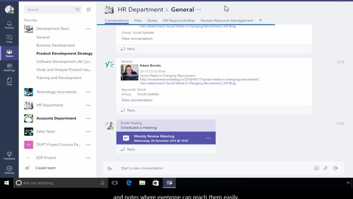 Office 365 - Overview of Microsoft Teams