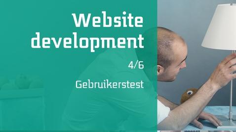 Thumbnail for entry 4/6 Website development : Gebruikerstest