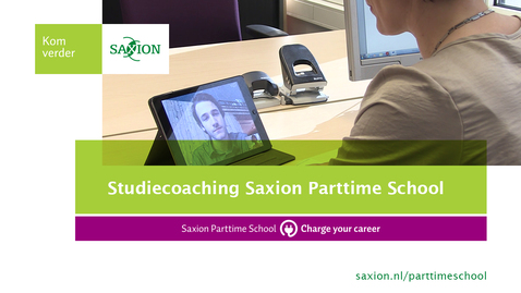 Thumbnail for entry Studiecoaching Saxion Parttime School
