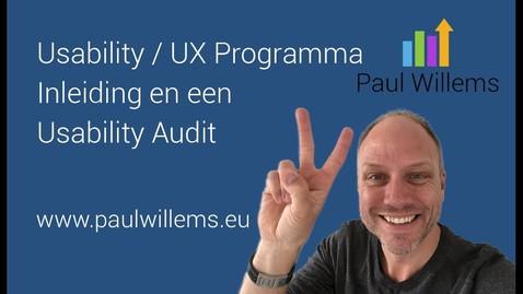 Thumbnail for entry Usability / UX Programma. Deel 1: Inleiding en een Usability Audit