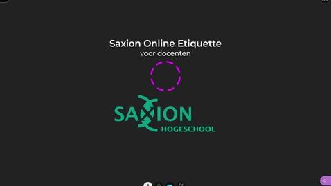 Thumbnail for entry Saxion Docenten Online Etiquette