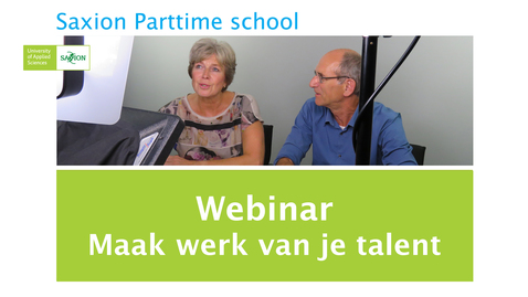 Thumbnail for entry Webinar Maak werk van je talent