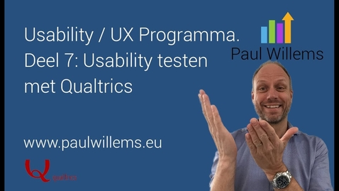 Thumbnail for entry Usability / UX Programma. Deel 7: Usability test met Qualtrics
