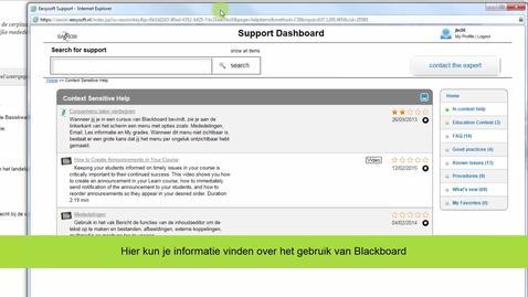 Thumbnail for entry Blackboard - Support in Blackboard