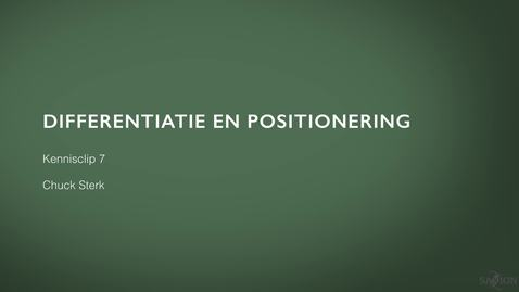 Thumbnail for entry Kennisclip Marketing 7: Differentiatie en positionering