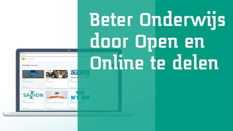 Thumbnail for entry Beter onderwijs door open en online te delen