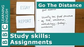 Thumbnail for entry Study Skills – Preparing for assignments