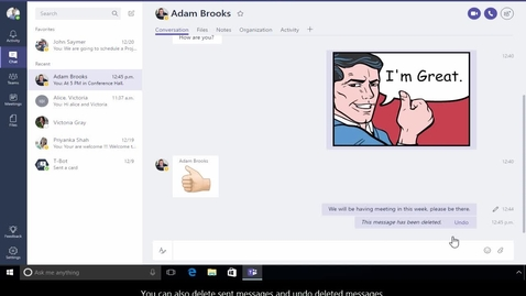 Thumbnail for entry Office 365 - Teams - How to start a new conversation
