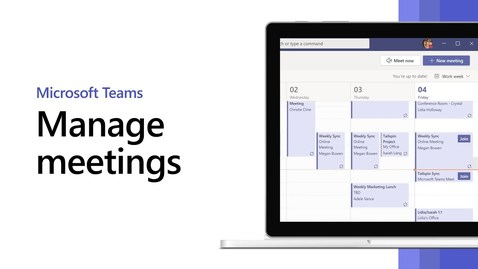 Thumbnail for entry How to manage Microsoft Teams meetings