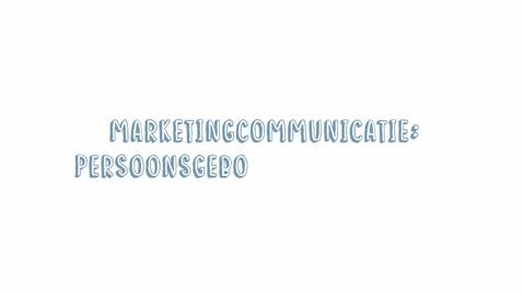Thumbnail for entry Marketingcommunicatie 06: Persoonsgebonden kenmerken & persona's