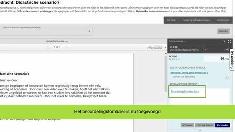 Thumbnail for entry Blackboard - Beoordelen van een opdracht met beoordelingsformulier
