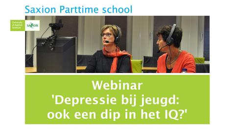 Thumbnail for entry Webinar 'Depressie bij jeugd: ook een dip in het IQ?'