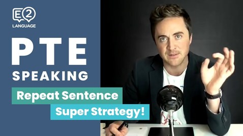 Thumbnail for entry PTE Speaking: Repeat Sentence | SUPER STRATEGY with Jay!