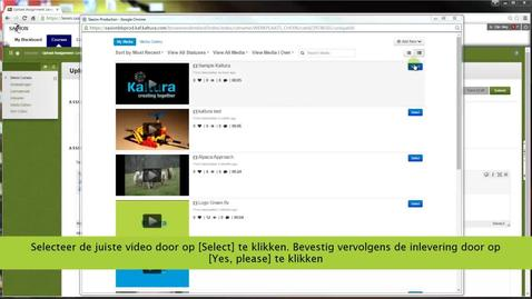 Video uploaden en inleveren Blackboard
