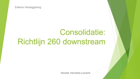 Thumbnail for entry EV4d Richtlijn 260 bij downstream sales