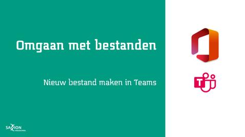 Thumbnail for entry Nieuw bestand maken in Teams