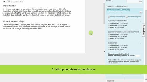Thumbnail for entry Blackboard - Beoordelen van een opdracht met een rubriek