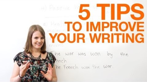 Thumbnail for entry C51 - 5 tips to improve your writing