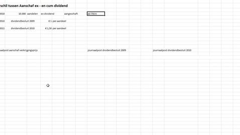 Thumbnail for entry Verschil ex en cum dividend