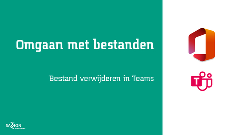 Thumbnail for entry Bestand verwijderen in Teams