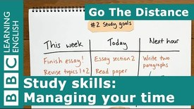 Thumbnail for entry Study Skills – Managing your time