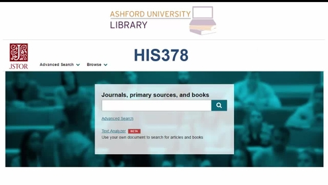 Thumbnail for entry JSTOR Overview