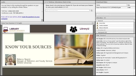 Thumbnail for entry Know Your Sources library webinar