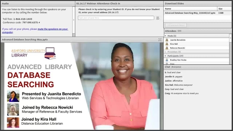 Thumbnail for entry Advanced Database Searching