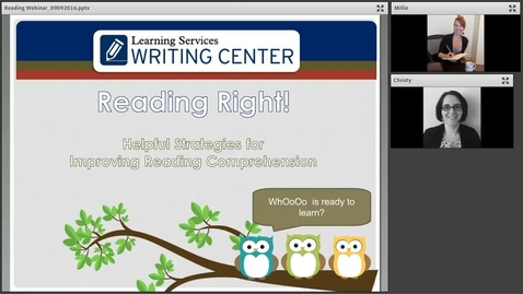 Thumbnail for entry Reading Comprehension Webinar Recording