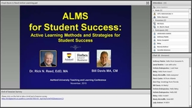 "Thumbnail for entry ""ALMS for Student Success!"" (Active Learning Methods and Strategies for Student Success)"