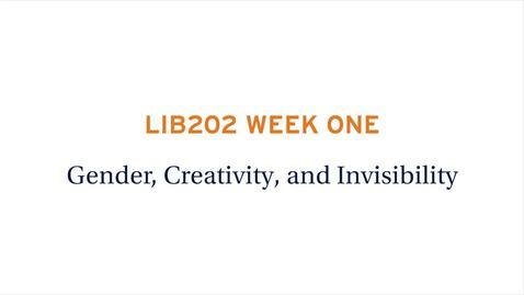 Thumbnail for entry LIB202 WEEK ONE