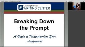 Thumbnail for entry Breaking Down the Prompt Webinar Recording