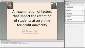 Thumbnail for entry An Investigation into Factors That Impact Retention of Online Students