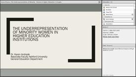 Thumbnail for entry Dr Karen Andrade Pizarro: The Underrepresentation of Minority Women in Higher Education Institutions