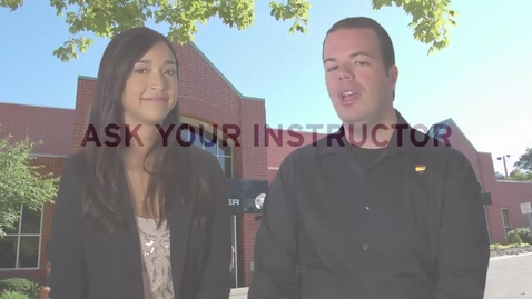 Thumbnail for entry Ask Your Instructor