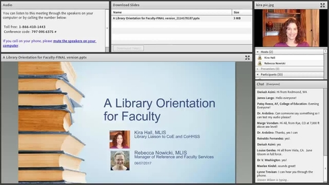 Thumbnail for entry Faculty Library Orientation
