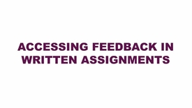 Thumbnail for entry Accessing Feedback in Written Assignments