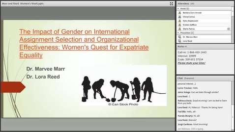 Thumbnail for entry Dr Marvee Marr and Dr Lora Reed: The Past and Future of Female Global Mobility and Career Path