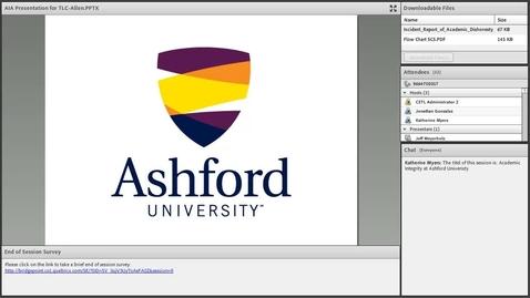 Thumbnail for entry Academic Integrity at Ashford University