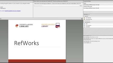 Thumbnail for entry RefWorks Library Webinar
