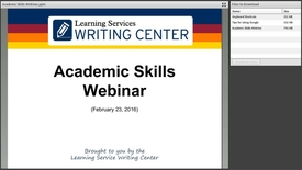 Thumbnail for entry Thesis & Technology Tips Webinar Recording