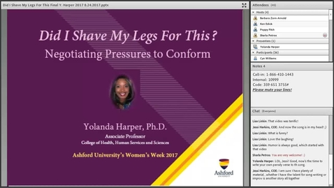 Dr Yolanda Harper:  Did I Shave My Legs For This: Negotiating Pressures to Conform
