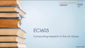 Thumbnail for entry ECI605 Library Research Webinar