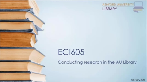 ECI605 Library Research Webinar
