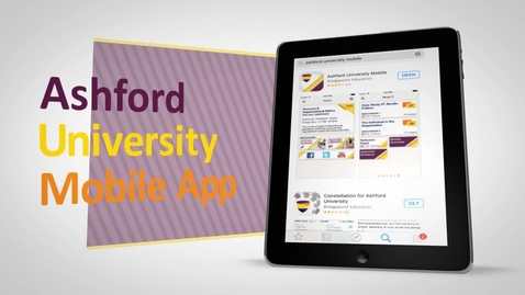 Thumbnail for entry GEN102 - Intro to Using the Ashford Mobile App