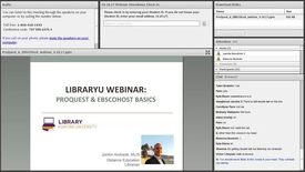 Thumbnail for entry ProQuest and EBSCOhost Library Webinar