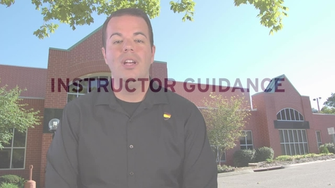 Thumbnail for entry Accessing Instructor Guidance