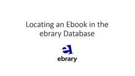 Thumbnail for entry ebrary database