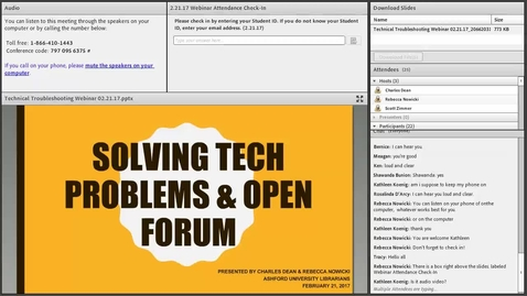Thumbnail for entry Technical Troubleshooting Library Webinar